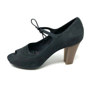 Camper Black Leather Mary Jane Pumps